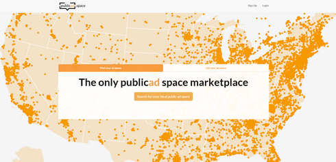 Above: PublicAd.Space, a service to find outdoor advertising opportunities.