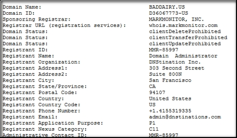 us whois mark monitor