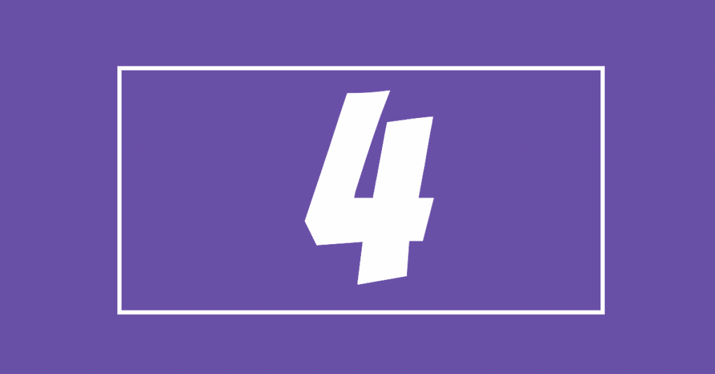 The number 4 on a purple background