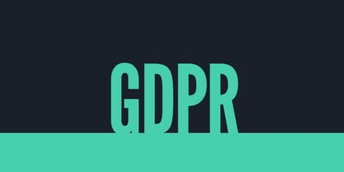Graphic with the acronym GDPR for General Data Protection Regulation