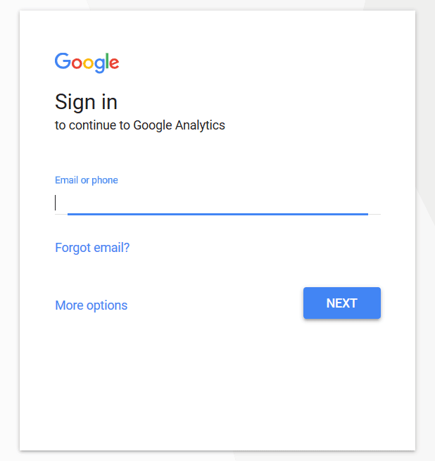 Google Analytics - Sign Up