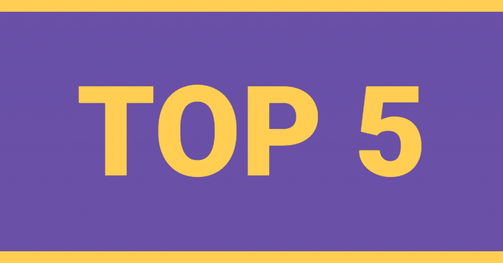 "The words ""Top 5"" written on a purple background"