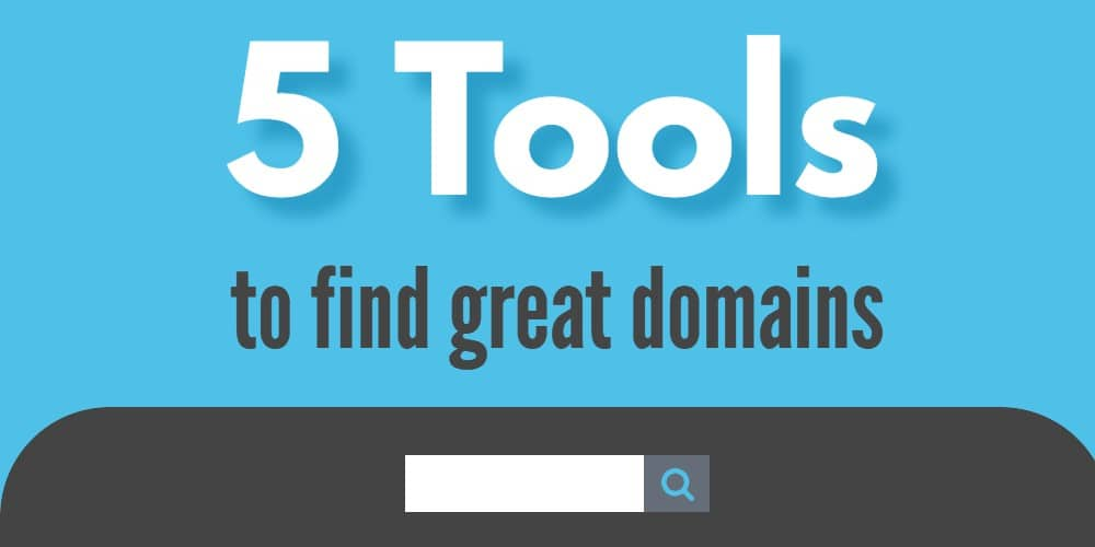 Image for 5 tools to find great domains