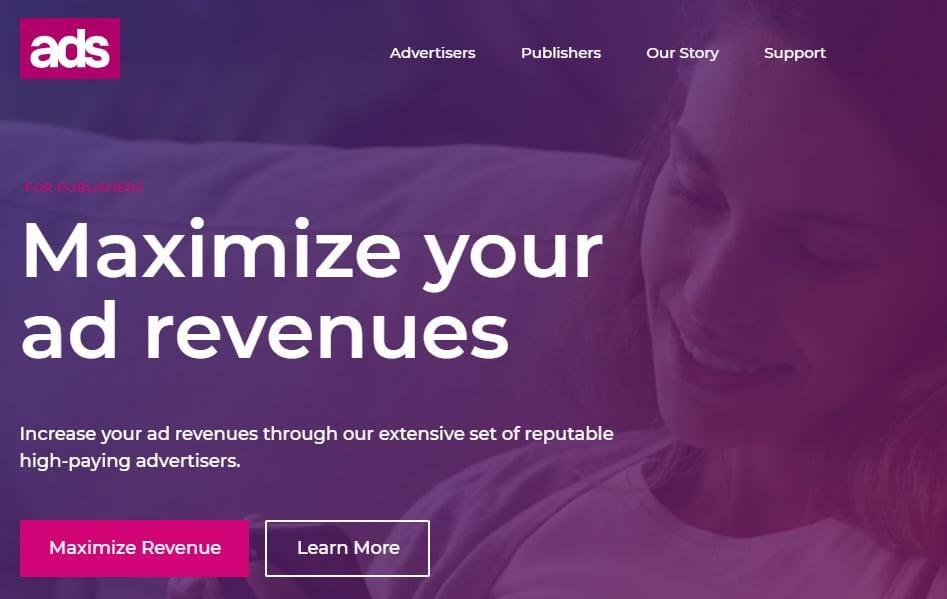 Ads.com landing page