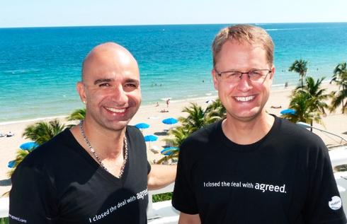 Ammar Kubba and I sporting our Agreed t-shirts at the TRAFFIC conference in Ft. Lauderdale.
