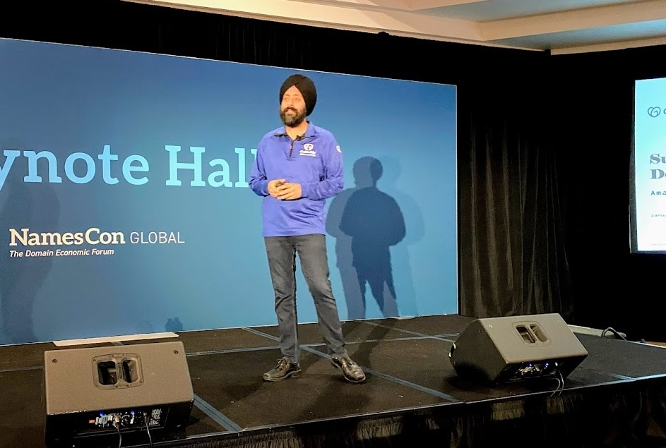 GoDaddy CEO Aman Bhutani talks at NamesCon