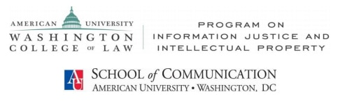 Logo for American University and other entities