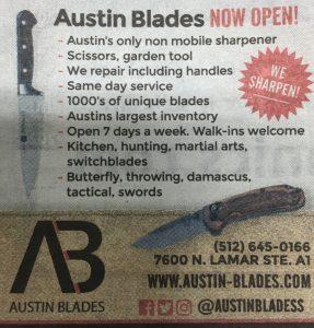 Austin-Blades.com Print Ad