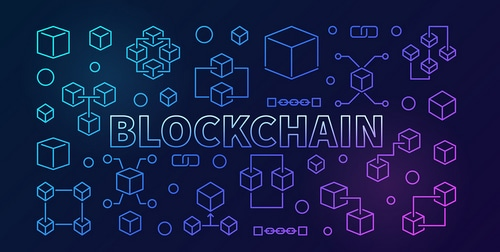 "Image with the word ""Blockchain"""
