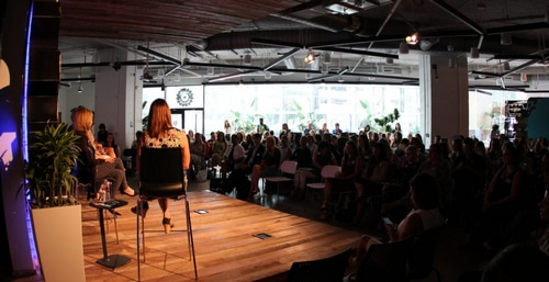 Picture of an event at The Capital Factory in downtown Austin, Texas