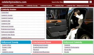 Celebrity insiders parked.com parking page