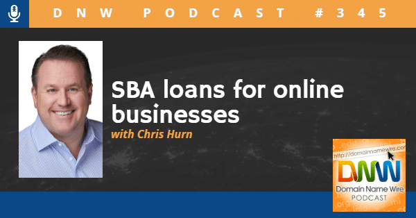 """Picture of Chris Hurn with the words """"SBA loans for online businesses"""""""