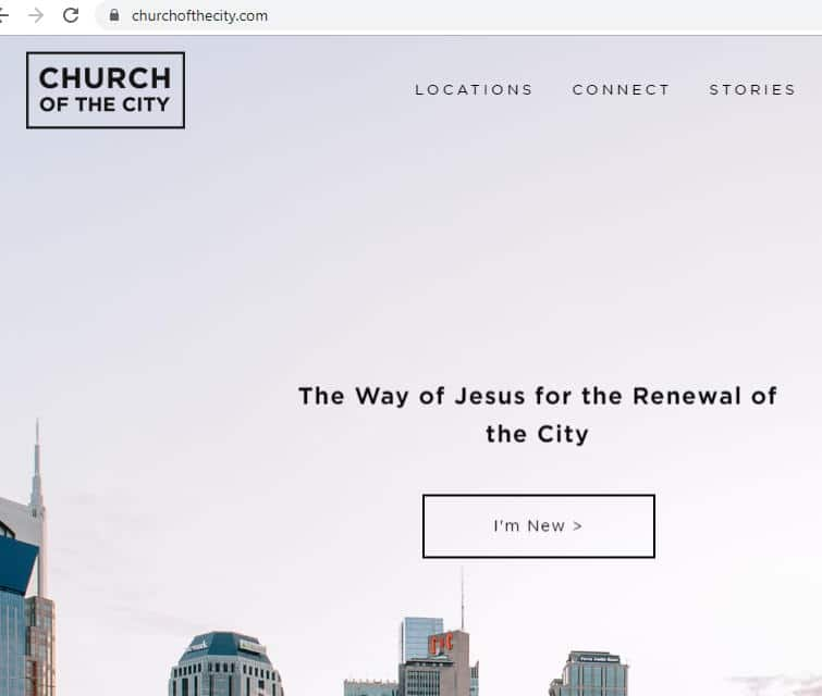 Screenshot of ChurchoftheCity.com