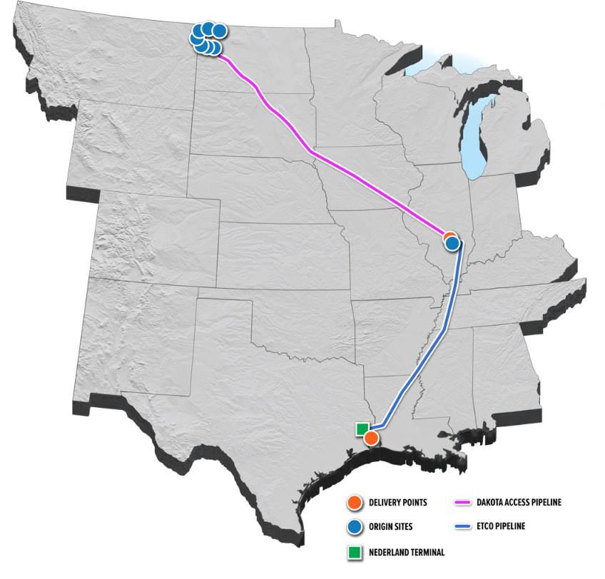 Diagram of the Dakota Access Pipeline