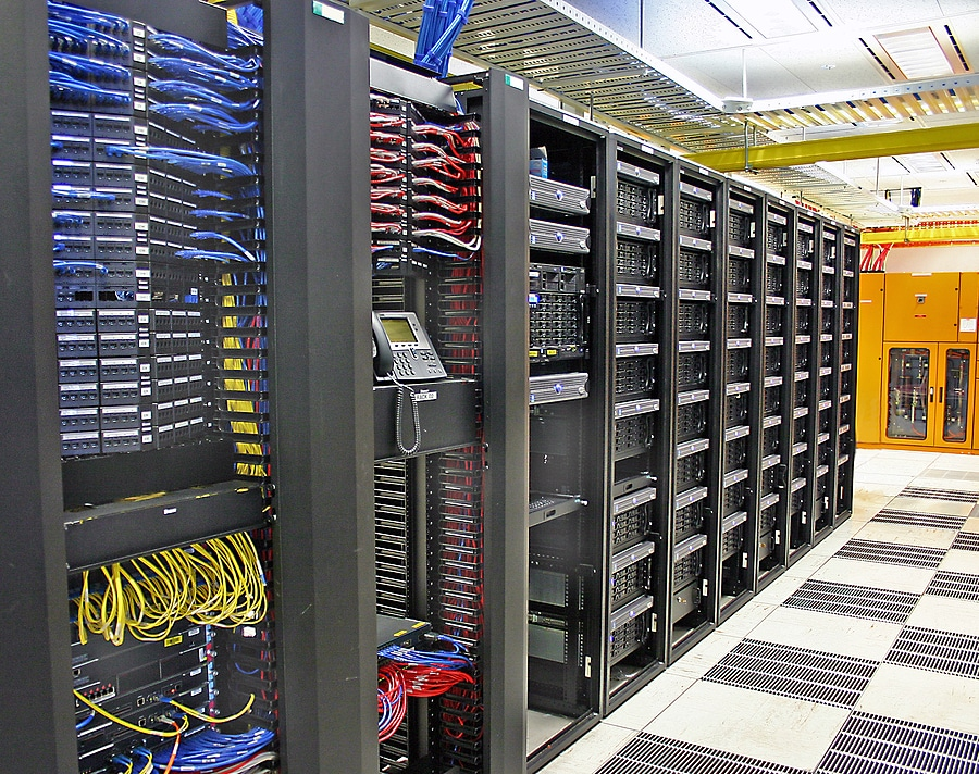 Picture of the inside of a data center