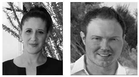 headshots of Tess Diaz and Tim Hargis of Buckley Media