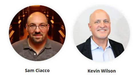Headshots of DigitalTown board members Sam Ciacco and Kevin Wilson