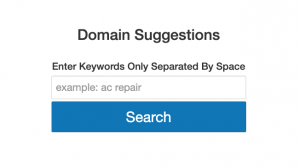 Domain Suggestion Tool using GoDaddy API