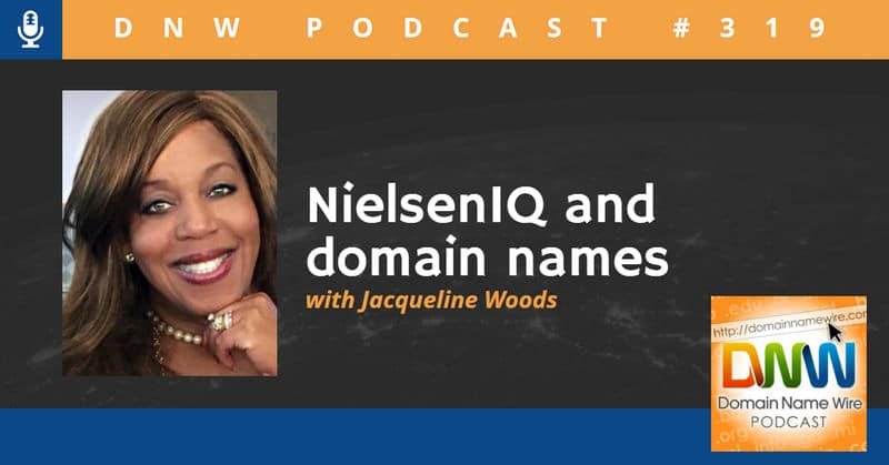 "Picture of Jacqueline D. Woods of NielsenIQ with ""NielsenIQ and domain names - DNW Podcast #319"""