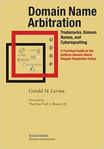 Book cover from Domain Name Arbitration by Gerald Levine