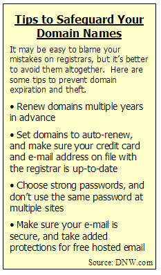 Domain security tips