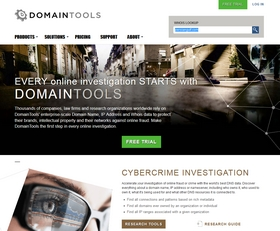 DomainTools homepage