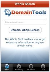 DomainTools iphone app