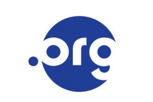 Logo for .org domain, featuring a blue circle with white letters spelling ORG