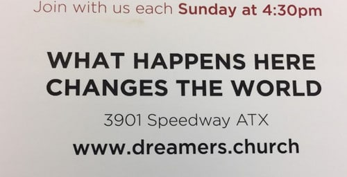 Flyer for dreamers.church