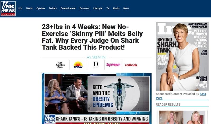 A screenshot of a fake Fox News website