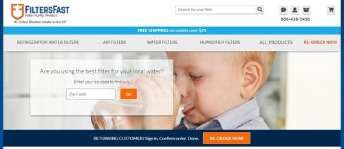 Screenshot of FiltersFast.com