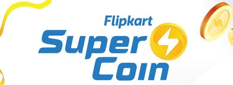 A promotional graphic for Flipkart Super Coin