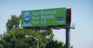 GoDaddy .LA billboard