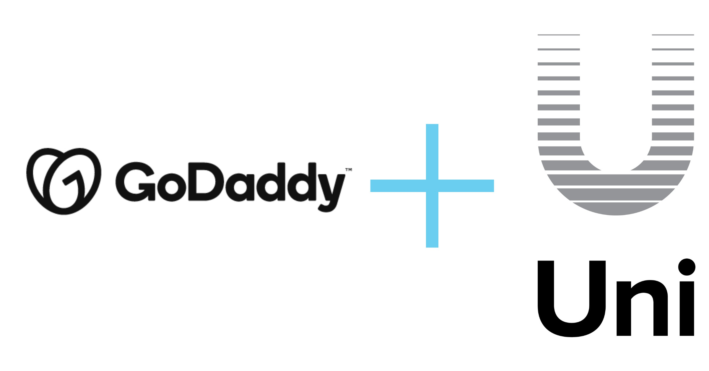 Picture of GoDaddy and Uniregistry Logos