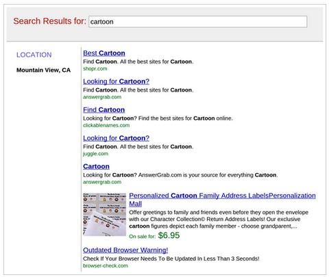 google-cartoon-search