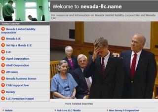 Nevada LLC landing page
