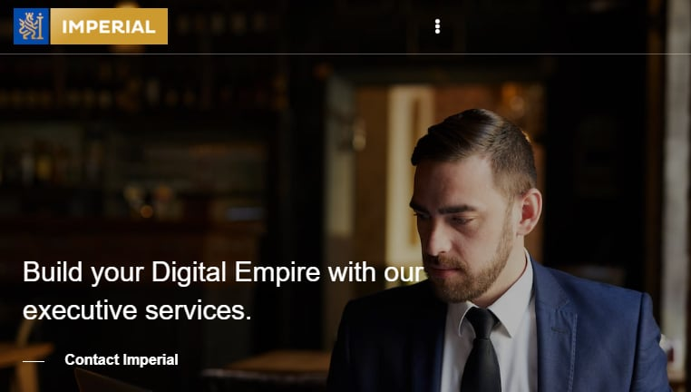 Screenshot of Imperial.com