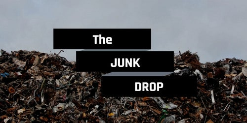 "Image of trash with ""The Junk Drop"" written on it"