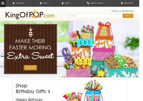Screenshot of KingOfPop.com from 2016. It now forwards to MichaelJackson.com.