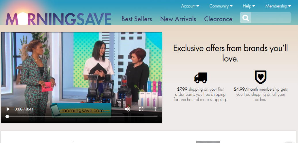 Screenshot of MorningSave.com