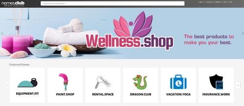 Screenshot of the website Names.Club