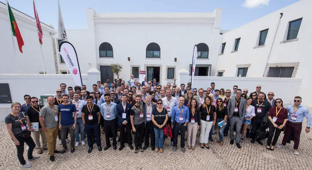 Group photo of attendees at NamesCon Europe 2019