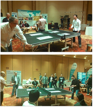 NamesCon ping pong tournament.