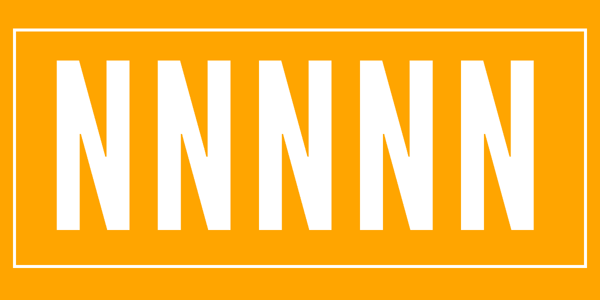 Five letter Ns on an orange background