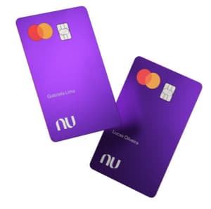 Picture of purple credit cards from Nubank