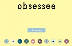Not much going on at Obsessee.com.