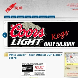 The page that used to be at UCFLiquorStore.com. Screenshots.com on December 23, 2012.