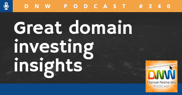 """Graphic that says """"Great domain investing insights"""""""