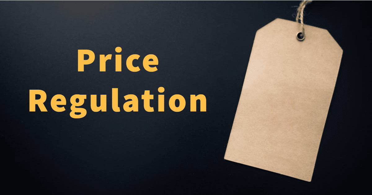 "Picture of a price tag and the words ""Price Regulation"""