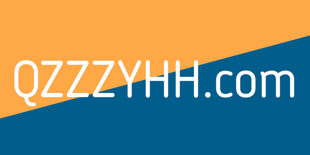 a blue and orange background with qzzzyhh.com